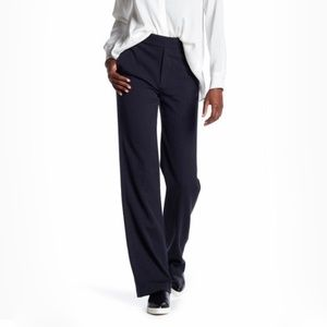NWT Vince Blue Wide Leg Wool Blend Trouser 10